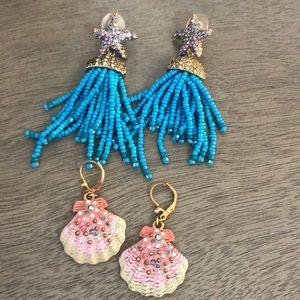 Set of ✌️Betsy Johnson Earrings 😻